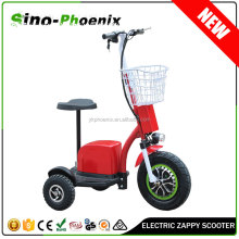 2015 48v20Ah Zappy three wheel Electric Scooter 500w with seat ( PN-ES20B-500W )
