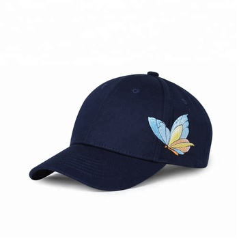 KaPin Butterfly Embroidered Snapback Cotton Spring Summer Autumn Hat Cheap Baseball Caps for Sale