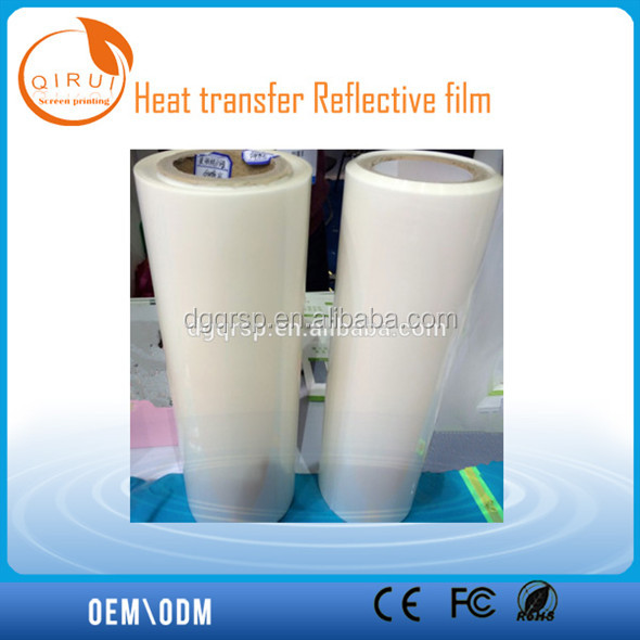 Silver high light visibility reflective heat transfer film
