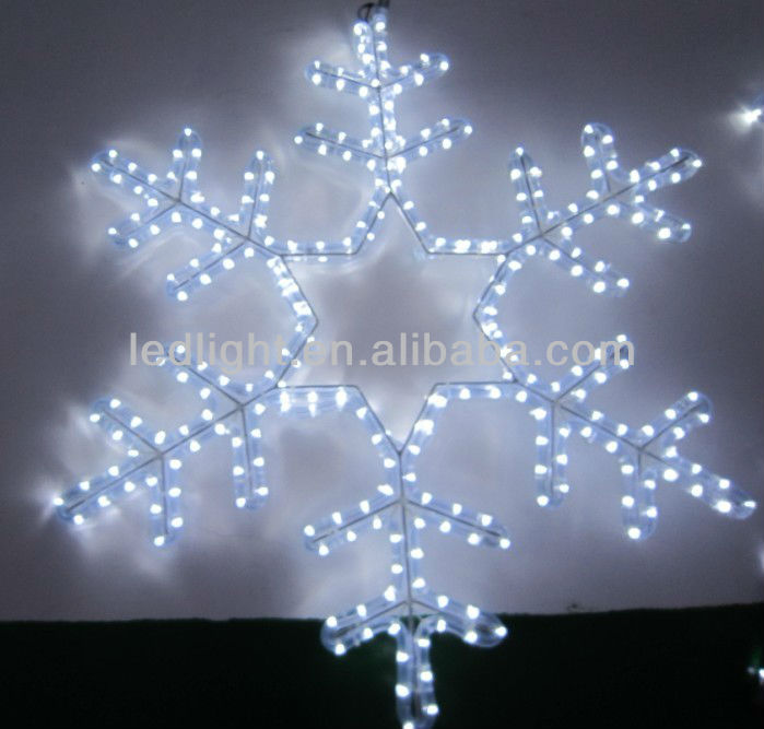 2014 christmas decor snowflakes white motif light,snowflake light effect