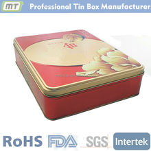 rectangular cookie box / cookie tin / tin box for cookie , cookie box