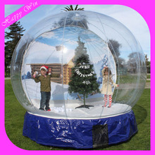 Outdoor Promotion Christmas Giant Inflatable Human Cheap Snow Globe For Taking Photo