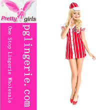 Pretty Girls Red Sexy Nurse Dress Up Costume