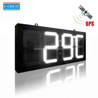 Rotation low voltage led countdown timer clock