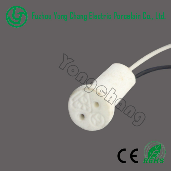 Porcelain light sockets for halogen g4 led low voltage led bulb