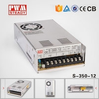 CE S-350-12 350w 12v 30a industrial switching power supply / 12vdc 30amp metal shell regulated power supply
