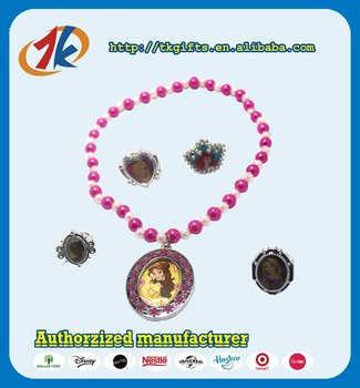 Wholesale new design cheap plastic necklace jewelries