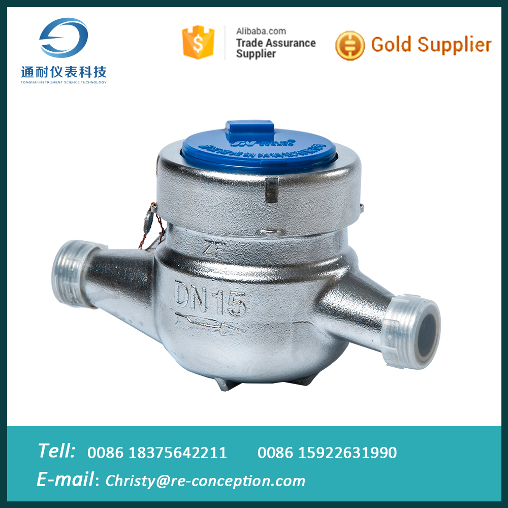 Cheap Stainless Steel Hot Water Flow Meter Single Jet Vane Wheel Water Meter