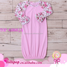 Latest jumpsuit Wholesale Baby Clothes silk screen Printing pajamas gown Children Long Sleeve Kid Maxi sleeper one piece Gowns
