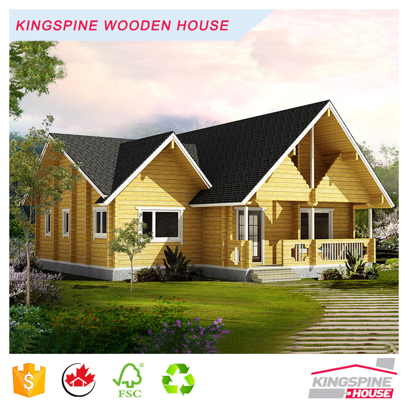Prefab Villa Solid Wooden Log House High Quality Reception Center Made in China KPL-033