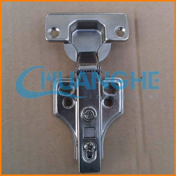 Hydraulic buffering hinge hinge hasp and staple
