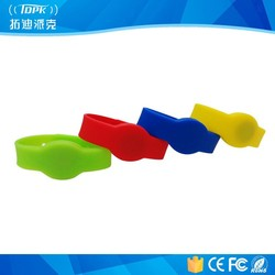 Best sell customized for fairs&gym silicone rfid wristband