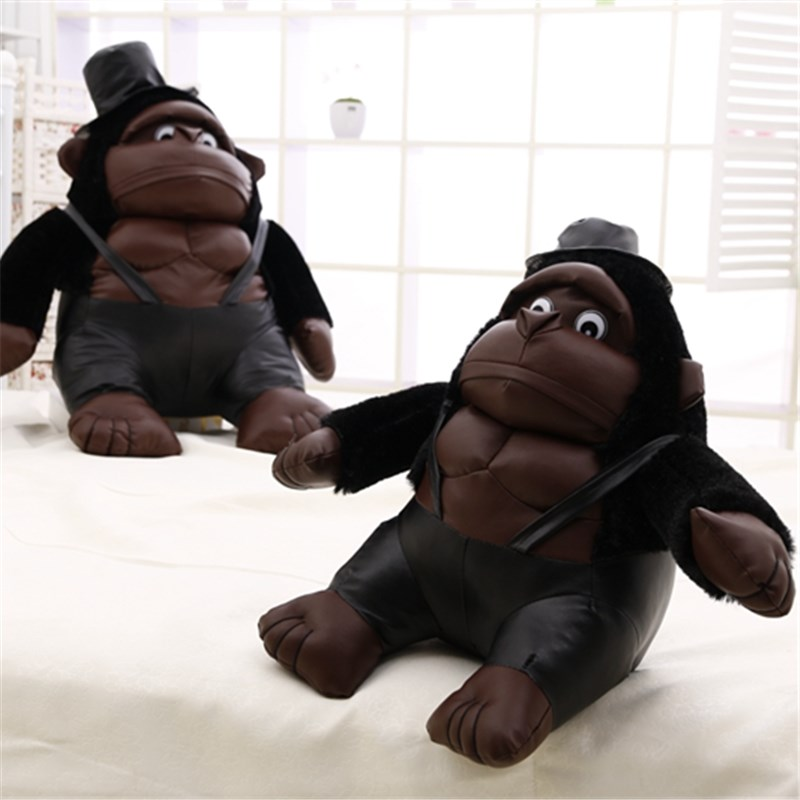 velvet stuff customized plush muscle Chimpanzee with hat OEM cartoon customized