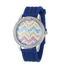 Promotional women watches ladies with pantone color silicone watch