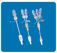 IV infusion Extension line with needle free valve, connecting tubing with needle free connector