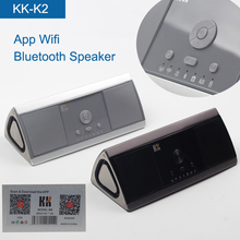 Portable Aluminum Alloy Bass Bluetooth Wireless Wifi Speaker, Exclusive Patent Mobile APP Speakers