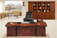 Antique luxury wooden executive desk office furniture wholesale(FOH-A32142)