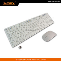 Ultra-flat Bluetooth Cordless Wireless Keyboard And Mouse Combo For PC Laptop