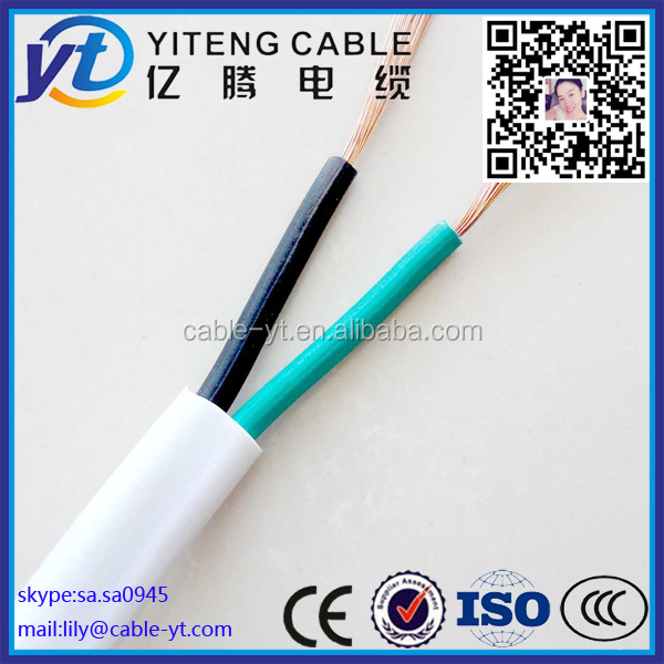 2 core 1.5mm2 2.5mm2 4mm2 6mm2 10mm2 RVV PVC sheathed stranded copper electirc wire