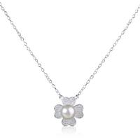 Korean style design diamond pearl pendant jewelry pearl necklace designs