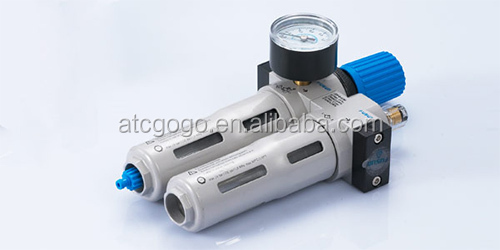 Pneumatic air filter OF series Manual drain and Auto drain