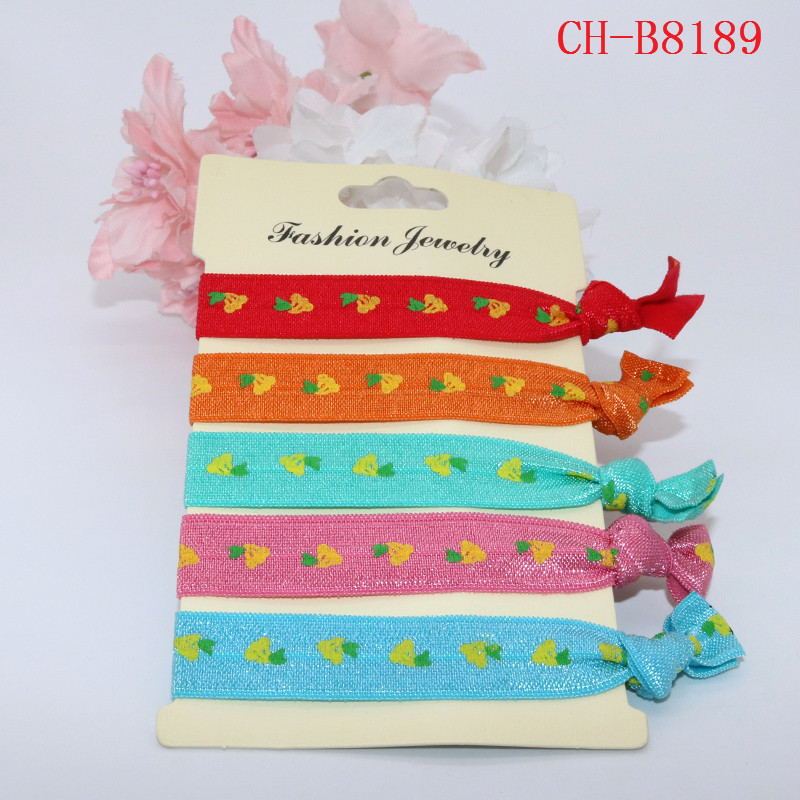 Colorful Print Glitter Knot Hair Band Hair Ties For Women Girls