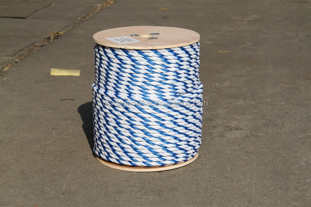 "3/8"" PP Rope - 2 blue and white"