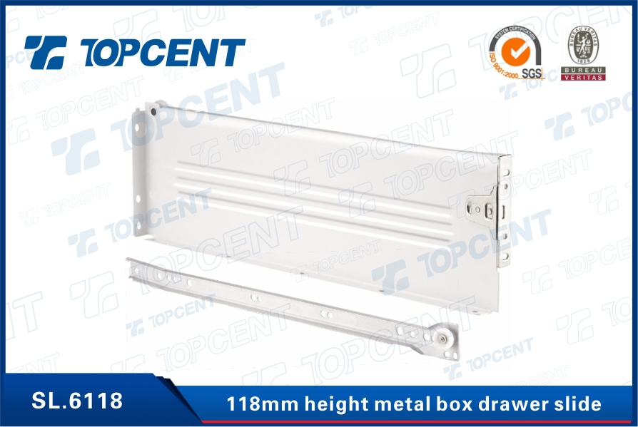 [SL.8456] Zinc plated steel full extension soft closing ball bearing drawer slide