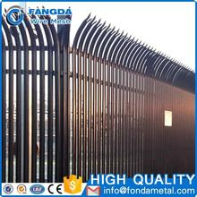 wholesale customized Euro Style round top palisade fencing