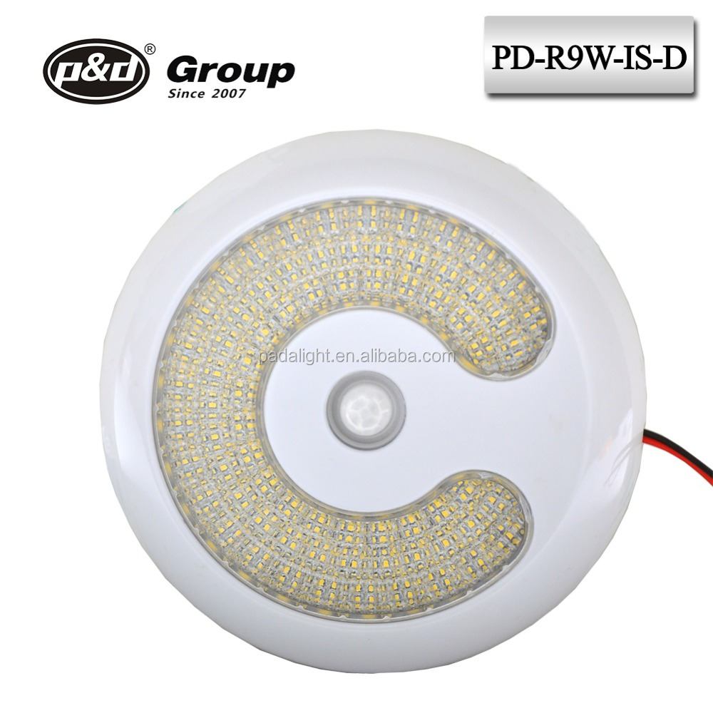 New Style EMC Approval Led Yacht Interior Light Led Boat Waterproof Lamp Led Interior Rv Dome Light with Infrared Switch