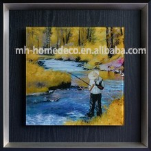 Framed Modern Abstract Wall Decor Art Landscape Paintings