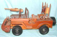 Wooden toy - Army Car
