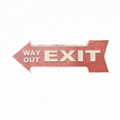 Decorative Exit road sign retro tin sign