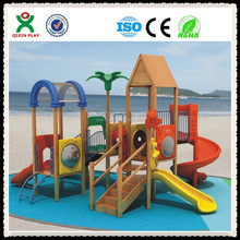 special needs playground equipment/wooden playground bridge/airplane outdoor playground QX-B1901