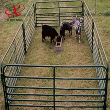 Cow Fence/metal tubular cattle/cow/horse fence rails galvanized livestock farm fence panel
