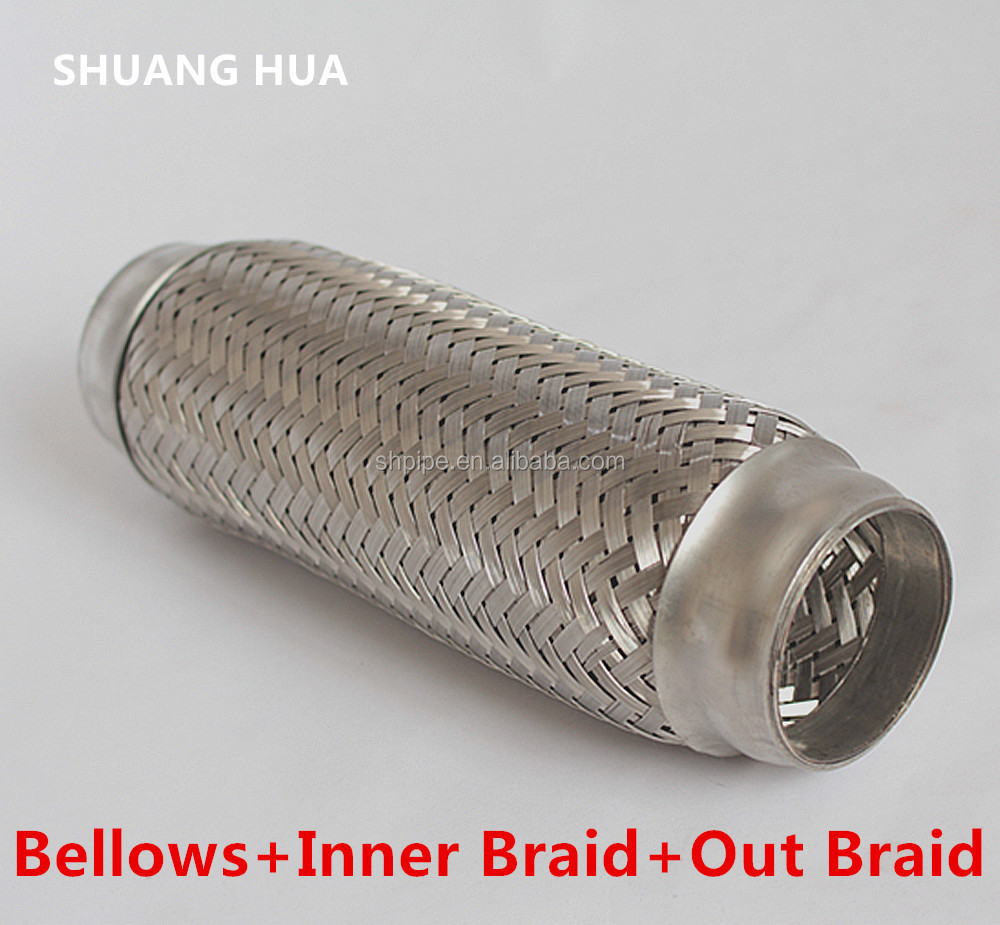 low price Automotive flexible exhaust pipe for generator exhaust muffler silencer