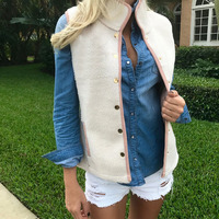 Ready To Ship Women Embroidery Sherpa