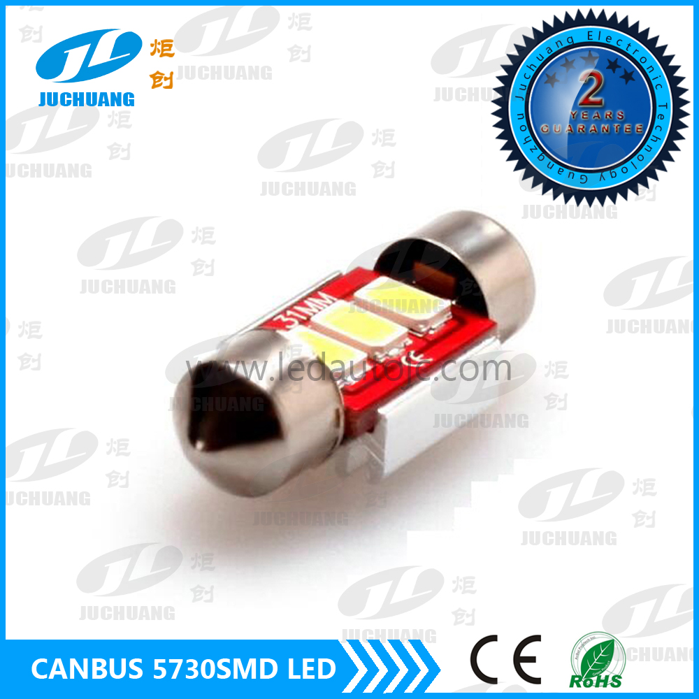 Car Auto Interior White red reading Lamp 31mm Festoon Dome LED Light Bulb 12V