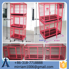 Galvanized large dog run cages/steel or iron dog cages