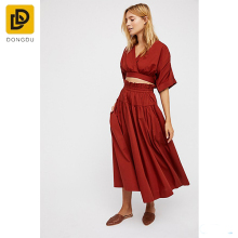 2017 new design fashion clothes casual wear women two piece set dress