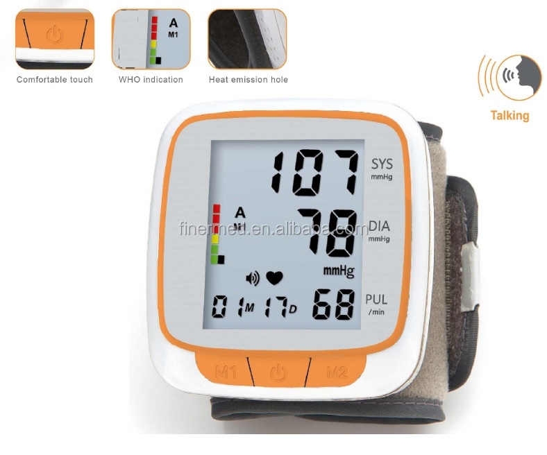 Speech Wrist BP Monitor Machine with talking voice