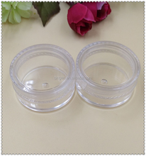 3g cosmetics jar with pp lid ,3g cosmetics jar for skin care ,lip balm jar /container