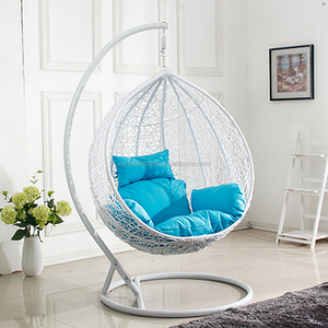 Cheap Outdoor Rattan Hanging Garden Single Seat Egg Patio Swing Chair For Adults