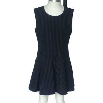 Navy Girl'S Skirt Sleeveless School Uniform Tank Dress Jersay Pinafore Dress