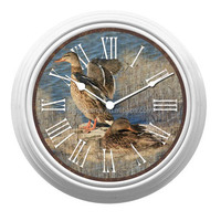 Antique Quartz Wall Clock With Animal Picture
