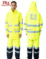reflective safety police rain suits