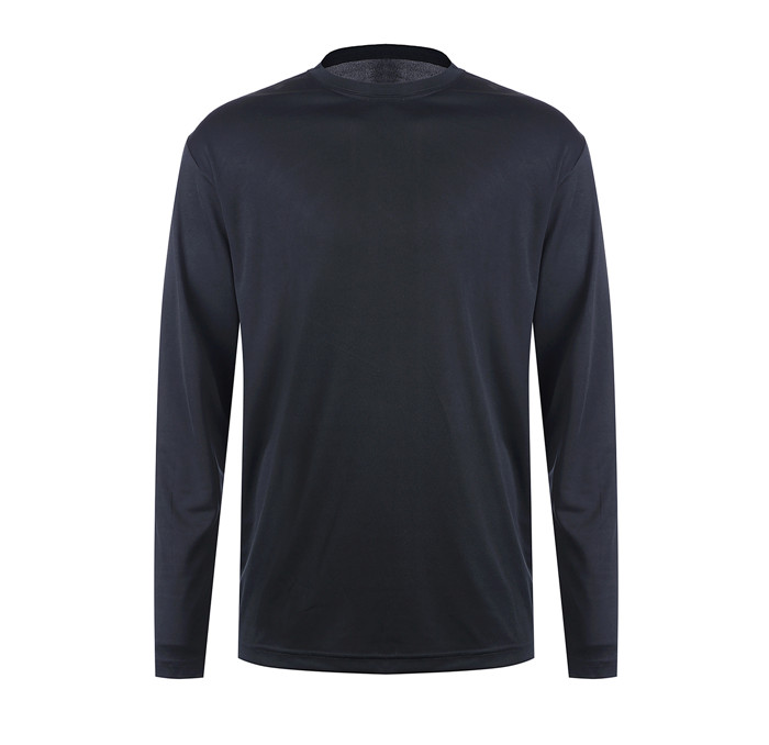 100% polyester blank long sleeves t shirt men