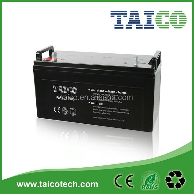 Solar power use 12V 110Ah lead acid solar battery
