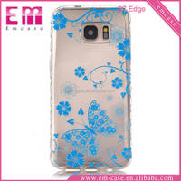 Colorful Printing Clear Soft TPU Gel Case For Samsung S7 edge Soft Cover