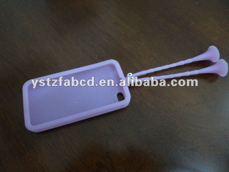 Flexible Fancy Silicon Mobile Phone Case for iPhone 4